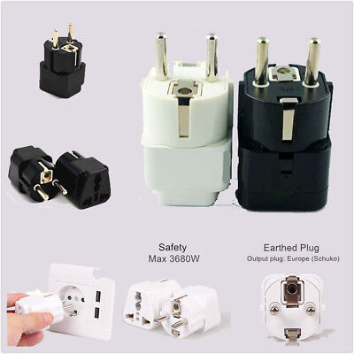 AU5.34 • Buy US AU INDIA UK To EU Travel Adaptor Power Plug Adapter 16 Amp ø4.8mm Schuko