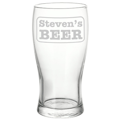 Personalised Name Beer Pint Glass Perfect Birthday Gift / Present Free Delivery • 8.50£
