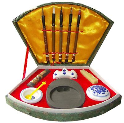 £21.60 • Buy Chinese Writing Set / Calligraphy Set With 5 Brushes And Case - Small
