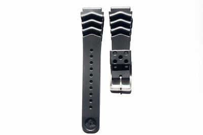 $ CDN18.65 • Buy 20mm 22mm Replacement Black Band Strap Rubber Wave Vent For SEIKO DIVER'S Watch