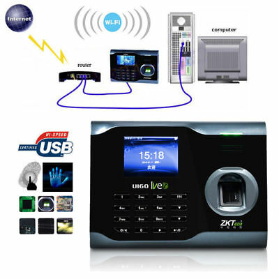 Biometric WIFI Employee Attendance Fingerprint Scanner Clocking In Machine UK • 146.34£