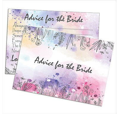 £3.49 • Buy Advice For The Bride Cards, Hen Party Games Wedding Gift Keepsake Top Quality