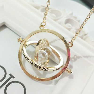 AU6.95 • Buy Harry Potter Hermione Granger Gold Tone Hourglass Necklace Pendant Time Turner