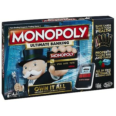 $199 • Buy Board Game 2-4 Players Monopoly Ultimate Banking Indoor Game Age 8+