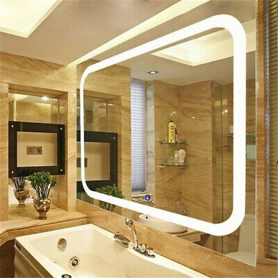 Designer Wall Hung Bathroom Illuminated LED Mirror Demister Pad |Touch Control • 76.99£