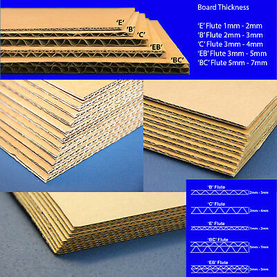 100 CORRUGATED BOARD CARDBOARD SHEETS BROWN DOUBLE 540mm X 140mm   150KT EB D//W