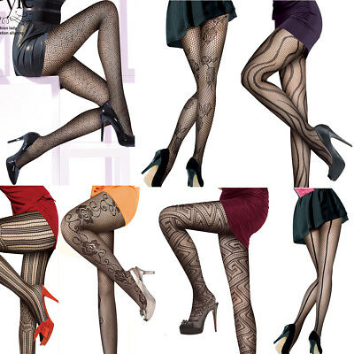 Sexy Ladies Black Fashion Design Fishnet Tights Net Pattern Burlesque Pantyhose • 3.79£