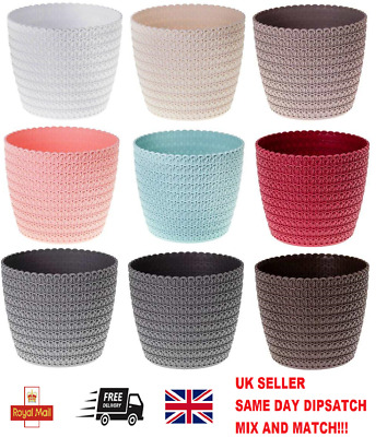 £2.99 • Buy Plant Pot Cover Indoor Outdoor Plastic Flowerpot Round Planter Without Drainage
