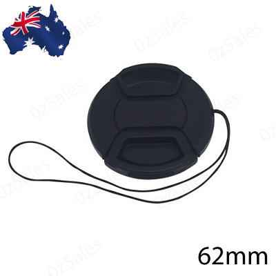AU7.99 • Buy 62mm Camera Lens Cap Cover Protect Sony Nikon Olympus Pentax Panasonic Fuji