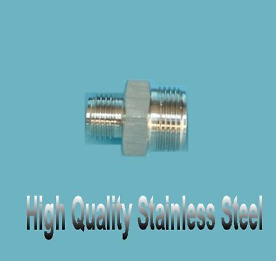 $10.99 • Buy Metric Hydraulic Male Fitting M16 M16X1.5 To M12 M12X1.25 Stainless Steel FF