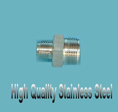$13.98 • Buy Metric Hydraulic Male Fitting M16 M16X1.5 To M18 M18X1.5 Stainless Steel FG