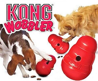 AU26.24 • Buy KONG Wobbler Food Dispensing Interactive Dog Toy Small Large