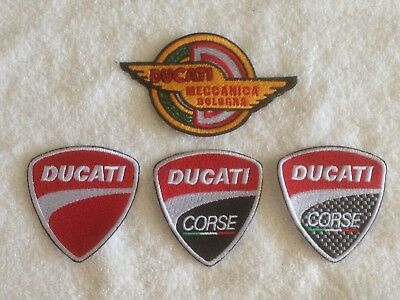 Ducati Motorcycles Biker Patches / Badges - Embroidered - Sew On Breast • 7£