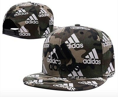 Embroidered Adidas 3 Stripes Snapback Flat Cap Camo: One Size Fits Most  • 20.73£