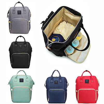 Multi-use Large Mummy Baby Diaper Nappy Backpack Mom Changing Travel Bag UK • 12.41£
