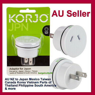 AU22.91 • Buy Power Adapter Travel Plug From AU&NZ To Japan US Asia 2pin Charger Converter