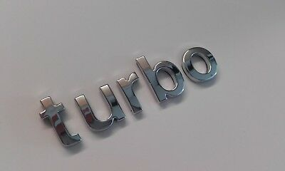 New Chrome 3D Self-adhesive Car Letters Badge Emblem Sticker Spelling Turbo   • 6.99£