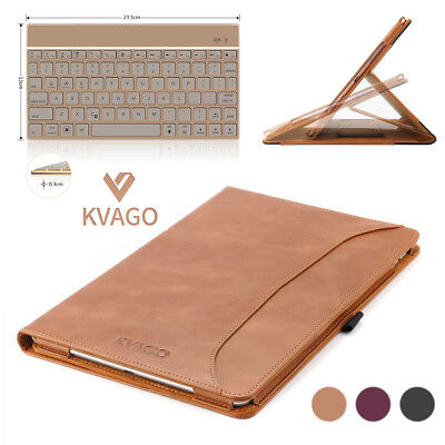 $59.99 • Buy KVAGO Genuine Leather Air 3/IPAD PRO 10.5 Case Cover &Backlit Bluetooth Keyboard