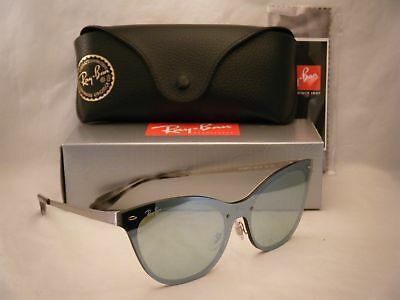 $110 • Buy Ray Ban 3580N Blaze Cat Eye Silver W Silver Mirror Lens (RB3580N 042/30)