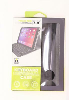 $12.80 • Buy New M-Edge Keyboard Universal Folio Pro Case For 7-8  Devices Gray / Black Grey