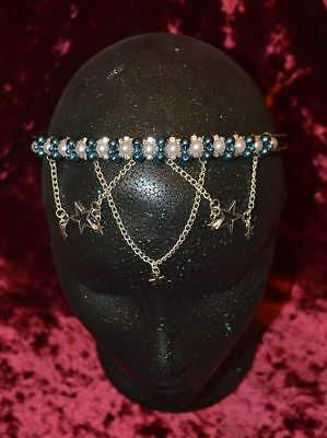 £14.50 • Buy Beautiful Headdress Blue And White With Diamante Pagan/Wiccan/Handfasting