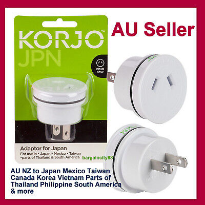 AU23.89 • Buy JAPAN ASIA US USA To AU Australia Plug AC Power Adapter Travel Converter Korjo