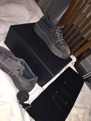 AU90 • Buy Puma Fenty Creepers: Grey Velvet, Great Condition And Cheap!