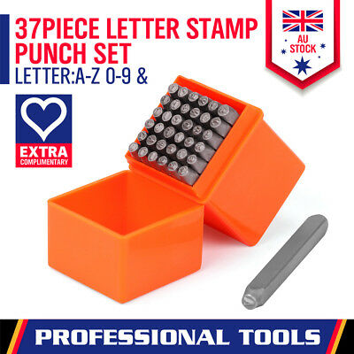 AU18.99 • Buy 37Pc Letter Number & Symbo ♡ Stamp Punch Set Industrial Steel Leather Tool 3mm