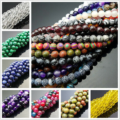 $ CDN1.73 • Buy Wholesale Lot Natural Gemstone Round Spacer Loose Beads 4mm 6mm 8mm 10mm 12mm