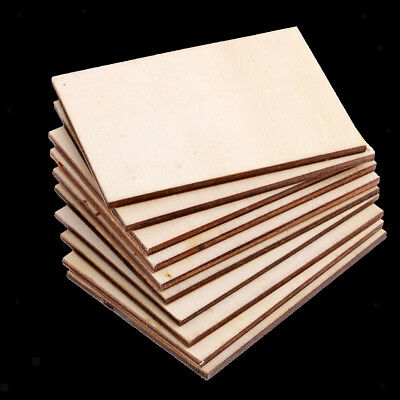 30x Blank Wood Rectangle Plaque For Engraving Machine Unpainted Wooden Shape • 4.86£