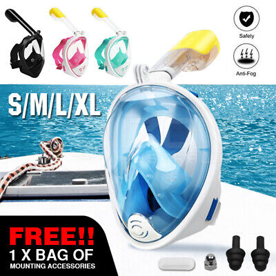 AU20.94 • Buy Full Face Diving Seaview Snorkel Snorkeling Mask Swimming Goggles For GoPro AU