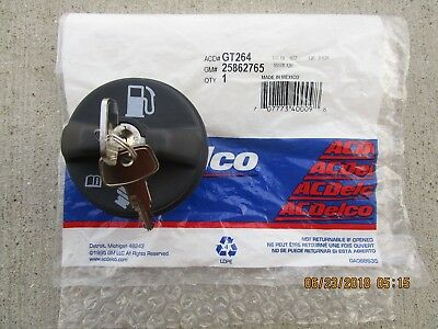 $59.49 • Buy Gm 25862765 Acdelco Gt264 Gt-264 Fuel Gas Tank Filler Cap Locking Key Oem New