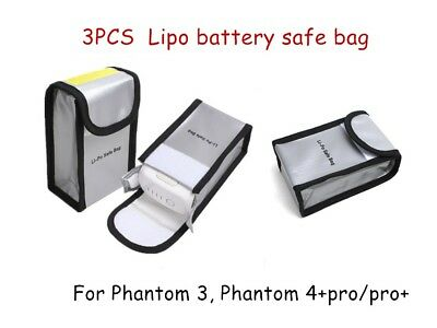AU33.30 • Buy 3pcs DJI Phantom 4 Pro And Phantom 4 PRO+ V2.0 Phantom 3 Lipo Battery Bag