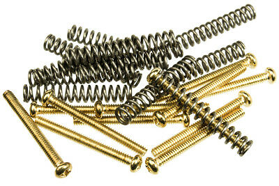 £6.44 • Buy 12 Pack Of Humbucker Pickup Mounting Screws With Springs Gold Finish
