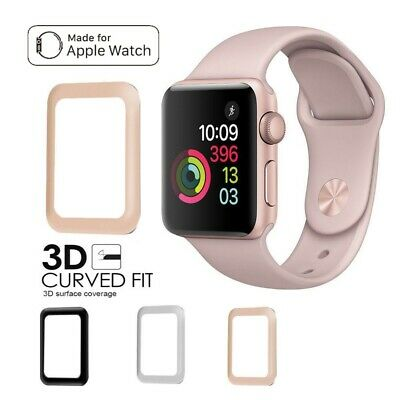 AU5.49 • Buy Apple Watch Series 1/2/3/4 Tempered Glass Screen Protector 3D Full 38 42 40 44mm