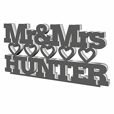 $17.04 • Buy Mr & Mrs Personalised Wedding Stand For Top Table, Centrepieces, Acrylic