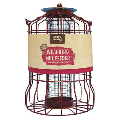 Kingfisher Guard Bird Peanut/nut Feeder Squirrel Proof Garden Hanging Tray • 11£