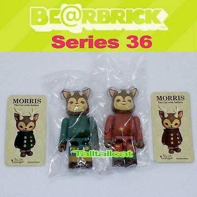 $49.99 • Buy Medicom 100% Be@rbrick Series 36 Artist ( Morris ) Bearbrick [Set Of 2] S36