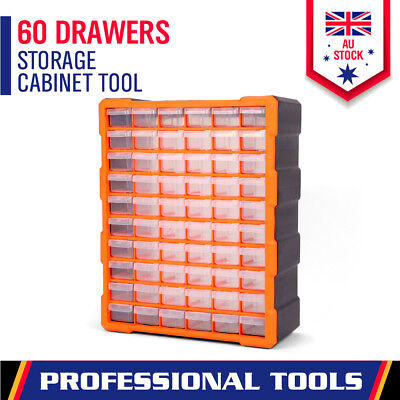 AU40.94 • Buy 60-Drawer Tool Storage Bin Part Cabinet Box Chest Plastic Organiser With Divider