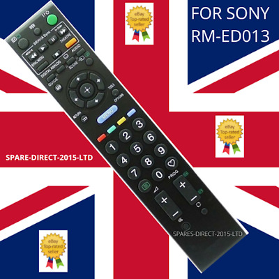 £5.70 • Buy For Sony RM-ED013 Replacement Remote Control For Sony BRAVIA TV ** Uk Stock **