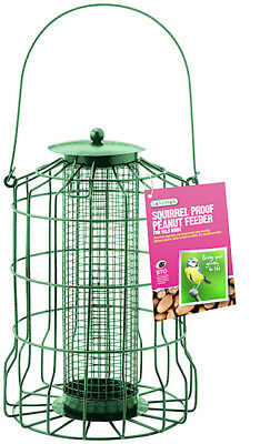 Gardman Squirrel Proof Guard Bird Fat Snax/seed/nut Feeder Garden Hanging Tray • 9£
