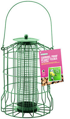 Peanut Feeder Gardman Squirrel Proof Guard Wild Garden Hanging Tray • 9.50£