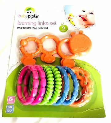 BABY PIPKIN Learning Links Set Colourful Baby Toddler Teething Toy 6months+ • 7.90£