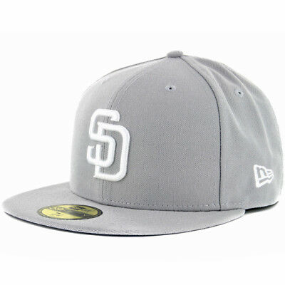 the best attitude 53a18 d72bf New Era 59Fifty San Diego Padres GY WH Fitted Hat (Grey White) Men s