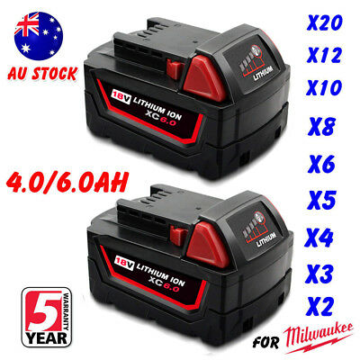 AU49.99 • Buy For Milwaukee 18V 6.0AH M18 M18B4 48-11-1828 Lithium Ion XC 6.0 Battery NEW