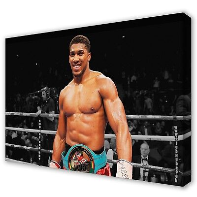 £23.97 • Buy ANTHONY JOSHUA AJ Boxing Stretched Canvas Print Wall Art Photo Picture ~ 5 Sizes