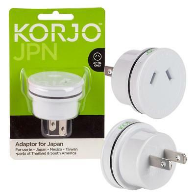 AU29.99 • Buy Korjo Japanese Plug Travel Adapter From AU To Japan/Mexico/US/Taiwan/Asia For JP