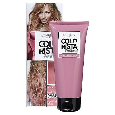 LOreal Colorista Washout Pink Semi-Permanent Hair Dye Colour Hair Care X 2 • 14.97£