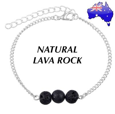 AU8.95 • Buy Natural Lava Rock Stone Aromatherapy Essential Oil Diffuser Aroma Bracelet Gift