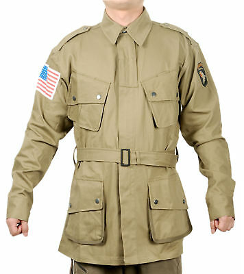$67.49 • Buy Wwii Us Army M1942 M42 Airborne Paratrooper Uniform Military Jacket Size S